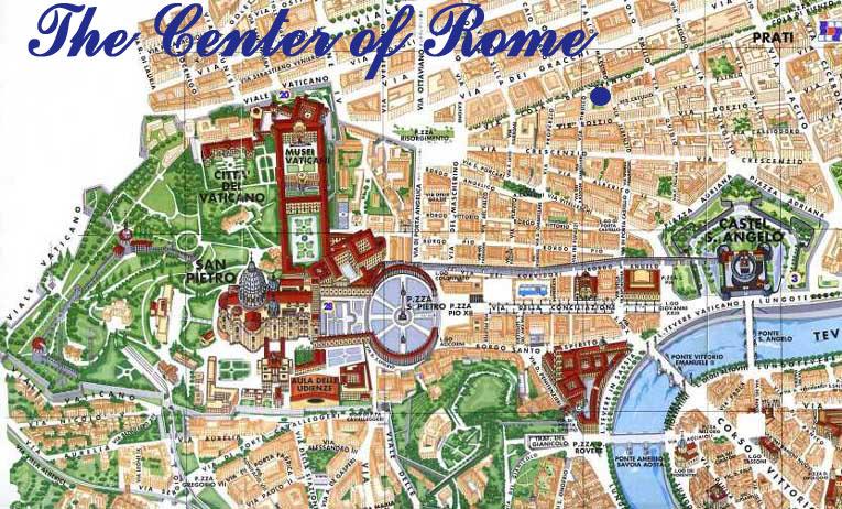 Roma Centro Cartina.Mappa Di Roma